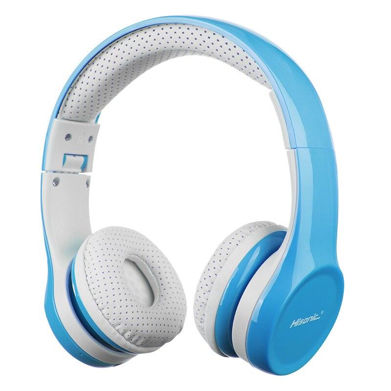 Hisonic niños auriculares Bluetooth inalámbrico ruido cancelación de proteger el oído plegable Alambre de Control niño niña con micrófono