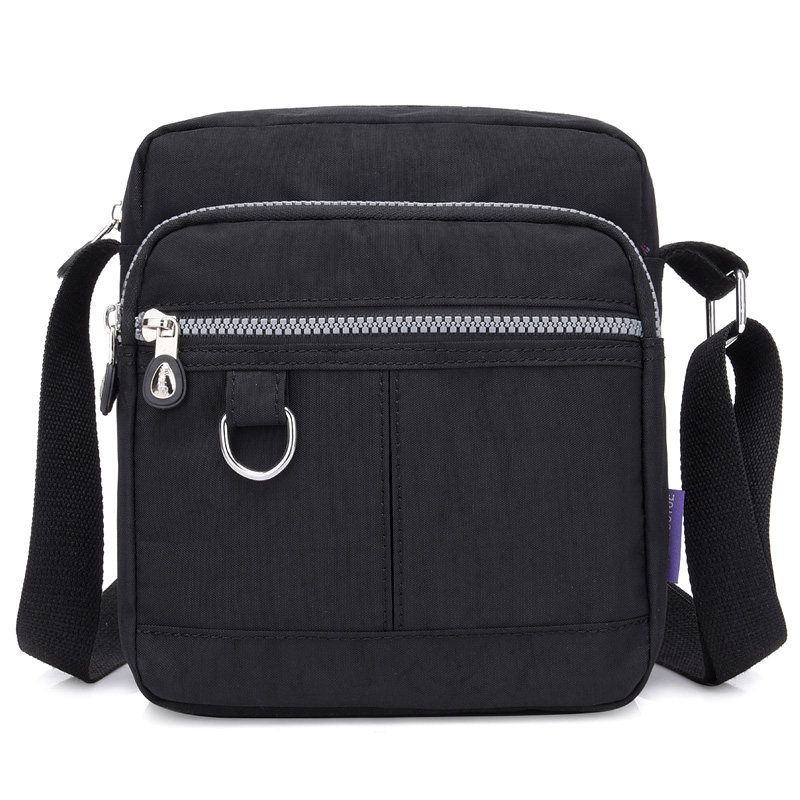 Waterproof Nylon Cloth Bag Shoulder Bag Portable Travel Women Chest Bag Q