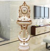 Große mode boden uhr wohnzimmer boden uhren einfache harz stummen standuhr klassischen Europäischen stil.-in Statuen & Skulpturen aus Heim und Garten bei