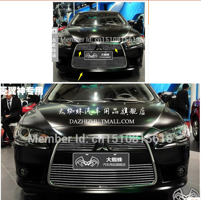 Quality Stainless steel Car front bumper Mesh Grille Around Trim Racing Grills 2011-2012 for Mitsubishi Lancer  цена