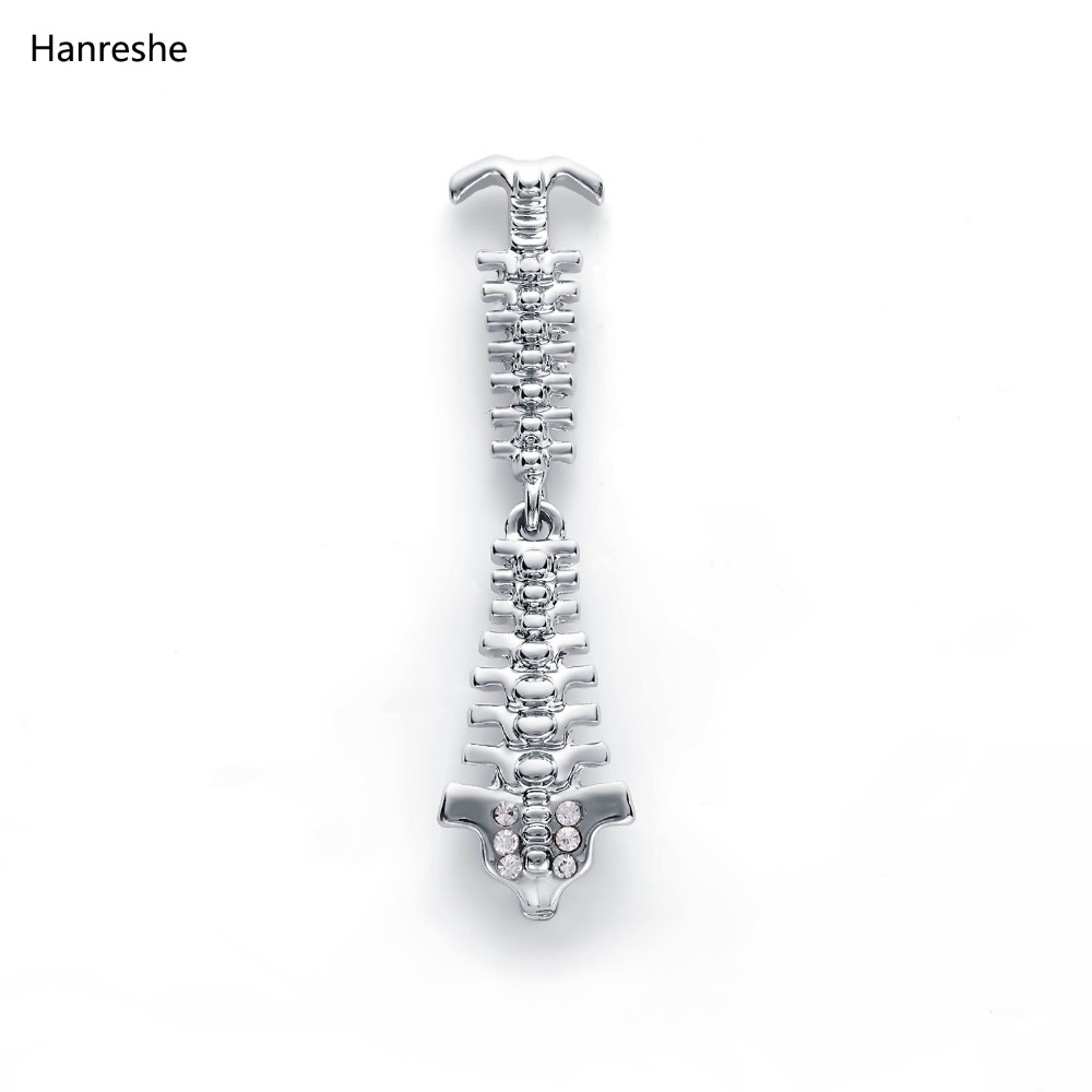 5a984fa275e19 Hot Sale Gold Silver Vertebra Pins and Brooches Nurse Medical Jewelry Cute  Pin Badge Christmas Pins Metal Gift Women Accessories