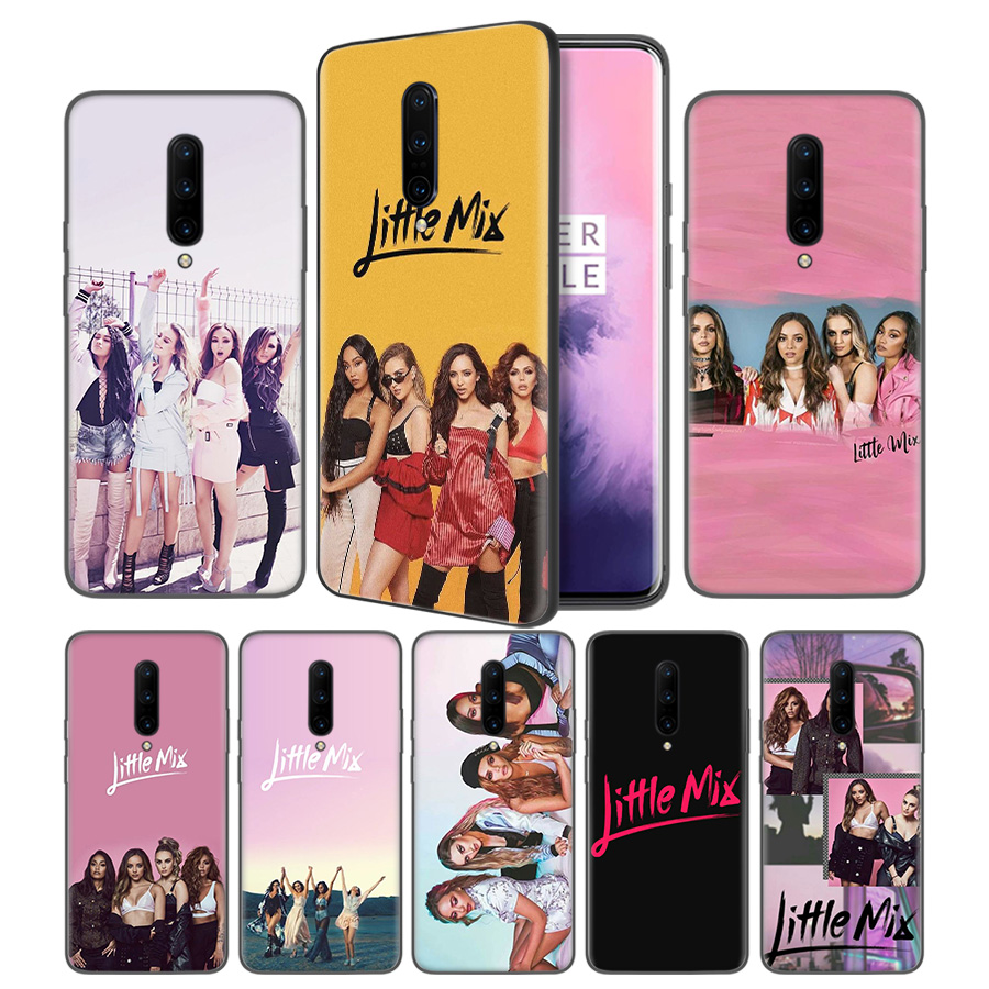 Little mix Soft Black Silicone Case Cover for font b OnePlus b font 6 6T font