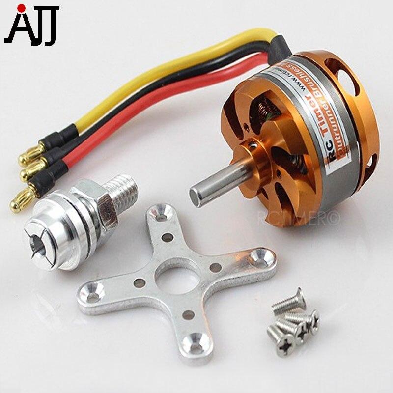 Rctimer BC3530 3530 1100KV 1400KV 1700KV outrunner brushless Motores FPV multirotor W/5.0mm eje Motores montaje