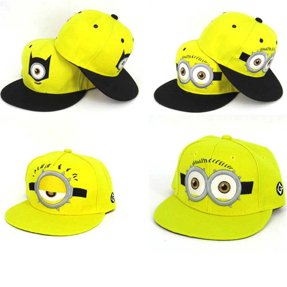 Cosplay Minions Minion Hat Yellow Cute Big Eyes Baseball Cap Sun Hat for kids boys/girls Accessories Halloween Costumes