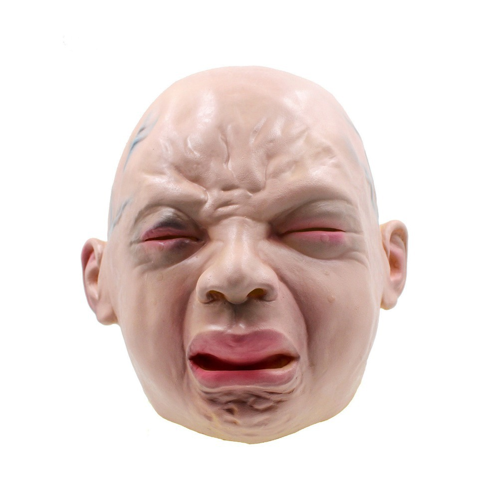 Latex Scary Mask Angry Crying Child Costume Halloween Creepy Cry ...