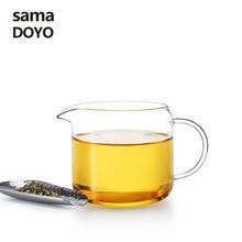 Samadoyo Heat Resisting Clear Glass Fair Cup Cha Hai Tea Split Device Eagle Mouth Tea Sea With Handle Kungfu Tea Set Home Access цена