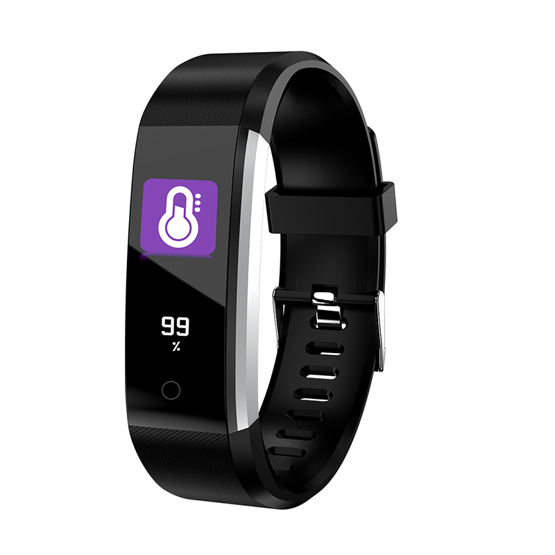 Fansaco Smart Bracelet Sports Wristband Smart Band With Heart Rate Monitor Fitness Tracker Band Watch for Xiaomi Phone Smartband