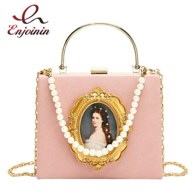 ヴィンテージ油絵バッジファッションpu女性パーティートートバッグクロスボディバッグ女性のためのポーチハンドバッグトート財布