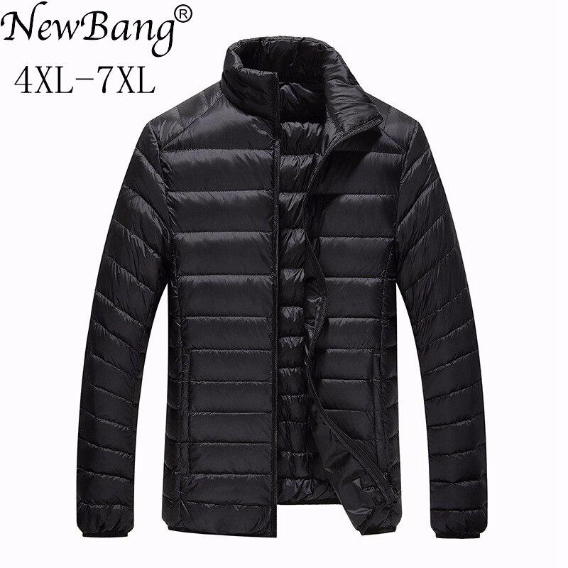 Image 2 - NewBang Brand Plus 7XL Ultra light Down Jacket Men Lightweight  Mens Down Coat Male Warm Portable Windbreaker Feather Parkaparka  downparka down menparka men