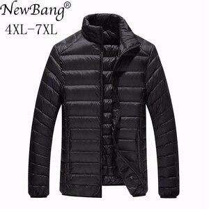 Image 2 - NewBang Marke Plus 7XL Ultra licht Unten Jacke Männer Leichte männer Unten Mantel Männlichen Warme Tragbare Windjacke Feder Parka