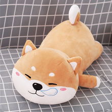 Fancytrader Cuddly Soft Anime Lying Dogs Plush Toys Pillow Big Cute Stuffed Animals Dog Doll 80cm/60cm