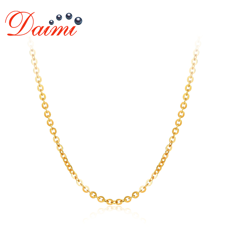 DAIMI Genuine 18K Yellow Gold Chain AU750 Cost Price Necklace Chain Pure Yellow Gold Chain