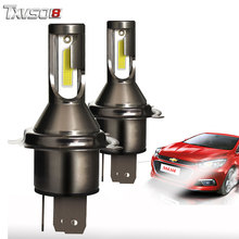 купить TXVSO8 2PCS H4 LED Car Headlight Bulbs Kit 6000K Flip COB Chips 26000Lm Led Headlight Bulb 55W Auto Front Headlamp Fog light дешево