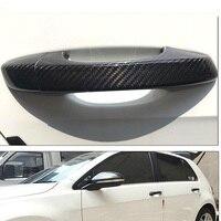 Ipoboo New Auto Exterior Carbon Fiber Made Door Handle Cover Sticker Decorations Overlay Trim For VW Golf 6