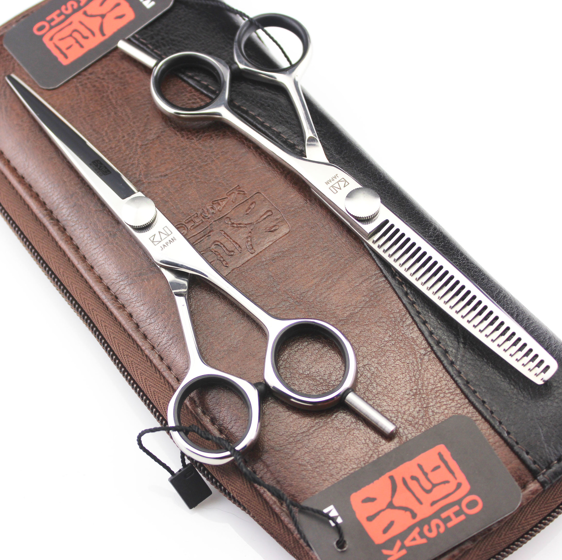5 5 6 inch Japan Kasho Hairdressing Scissors JP 440C Barbers