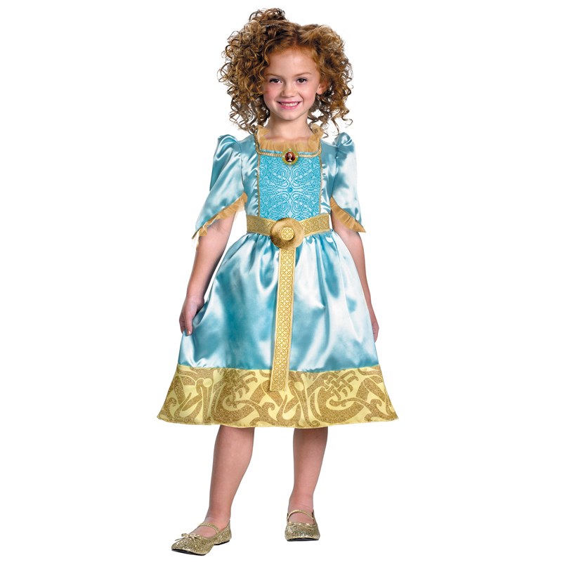 Girls Sparkle Classic Merida New Brave Princess Disfraz Exquisito - Disfraces