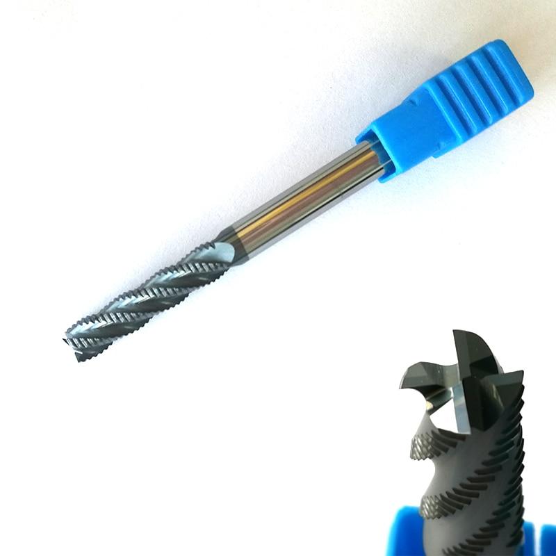 8mmX25MM hrc45 D8*25*D8*75 4 Flutes Roughing endmills Spiral Bit Milling Tools Carbide CNC Router bits 3 175 12 0 5 40l one flute spiral taper cutter cnc engraving tools one flute spiral bit taper bits