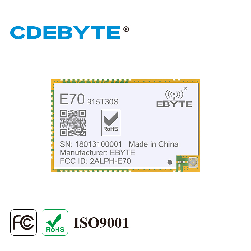 E70-915T30S Continuous Transmission ARM CC1310 915mhz 1W IPX Stamp Hole Antenna Wireless Transceiver SMD Transmitter Receiver