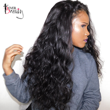 Ever Beauty Brazilian Body Wave 250 Density Lace Front Human Hair Wig Natural Black Color Non