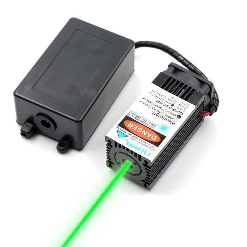 oxlasers 532nm 200mW 12V high power green laser module stage light laser head with stand green