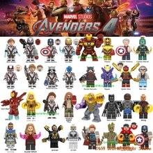 Мстители Капитан Марвел фигурки эндшпиль перец Человек-паук Железный человек древний ОДИН Тор Халк война машина строительные блоки кирпичи игрушки