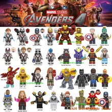 Avengers Capitan Marvel Figure Endgame Pepe Spiderman Iron Man Antico di un Thor Hulk Macchina da Guerra Building Blocks Giocattoli Dei Mattoni(China)