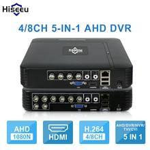 AHD 1080N 4CH 8CH видеонаблюдения DVR мини видеорегистратор 5IN1 для комплект видеонаблюдения VGA HDMI безопасности Системы Mini NVR для 1080 P IP Камера ONVIF DVR PTZ H.264