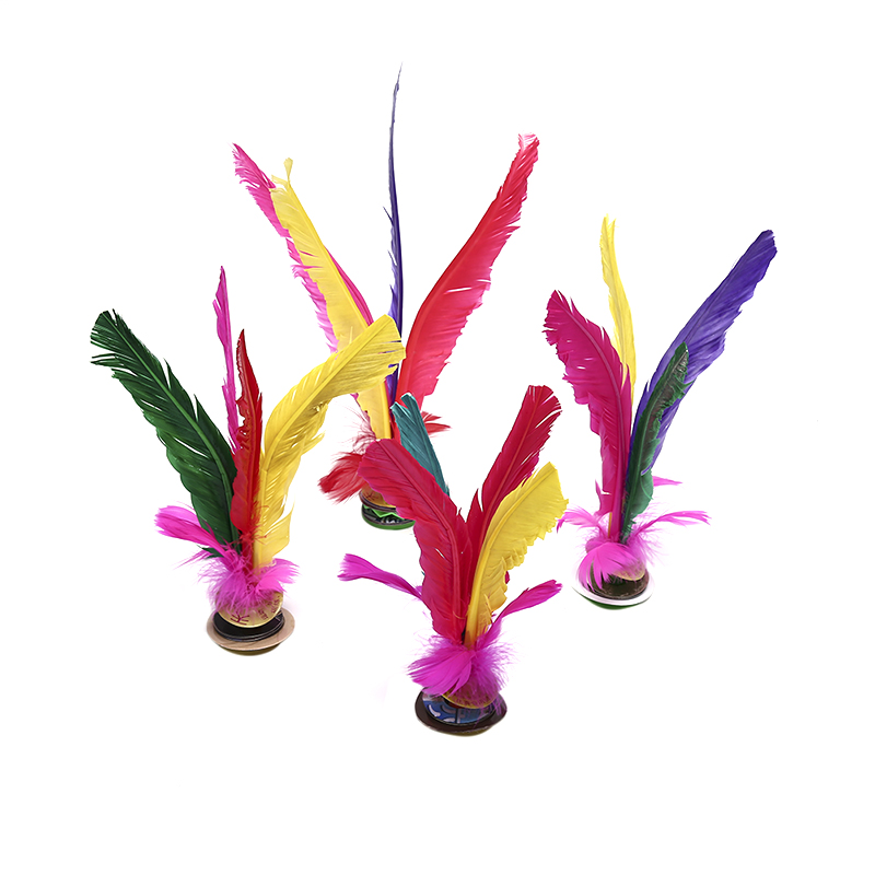 1pc China Jianzi Footbal Foot Kick Handwheel Fancy Goose Feather Shuttlecock Fitness Entertainment For Physical Exercise