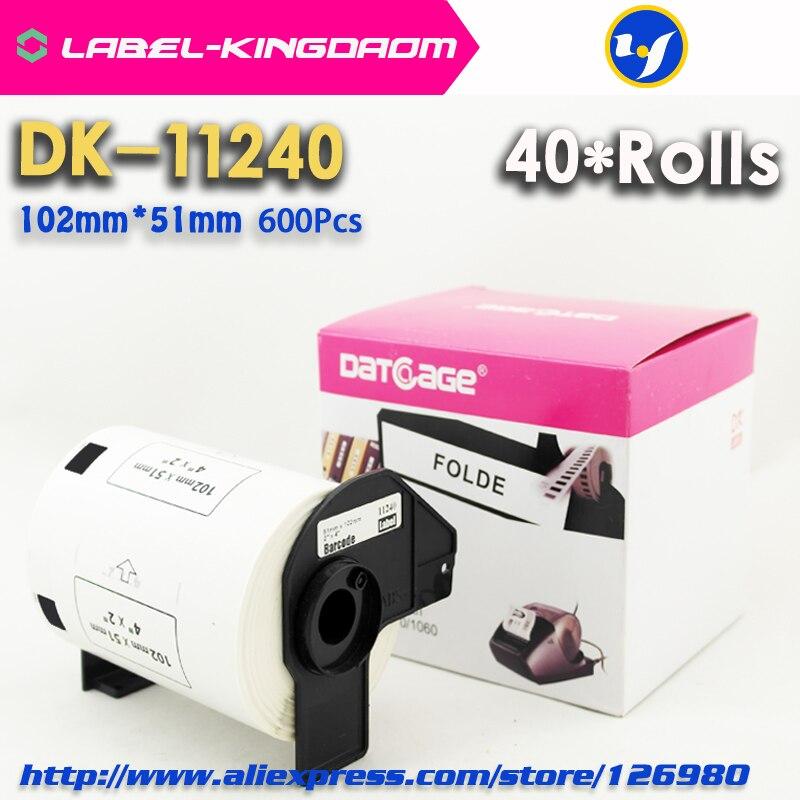 40 Rolls Brother DK 11240 Compatible Label 102 51mm 600Pcs Label Printer QL 1060N
