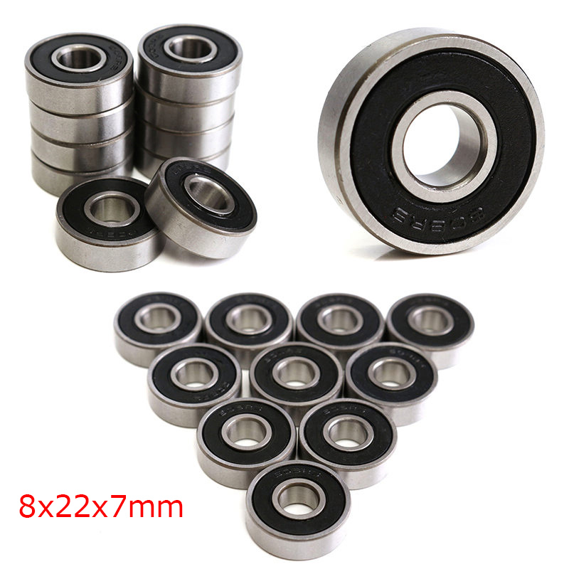 608-2RS Ball Bearings Steel 8x22x7mm 608-2RS Sealed 608 Toy New Stress Relief Spinner Handle Repair Tool Gadget Fashion