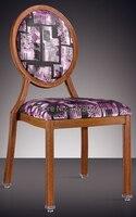 Round Back Woodgrain Aluminum Banquet Chair LQ L7815