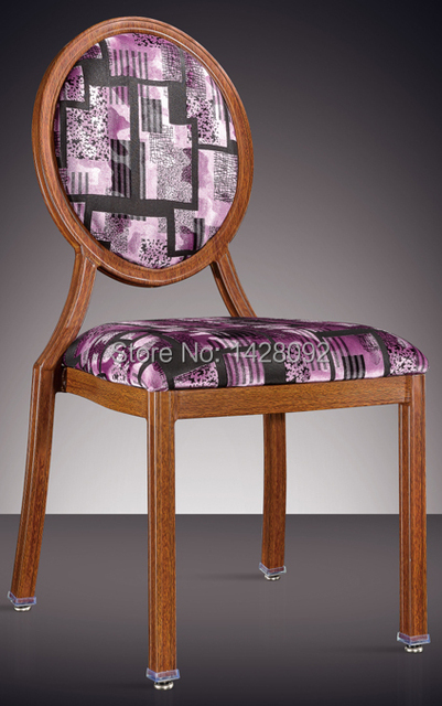 round back woodgrain aluminum banquet chair LQ-L7815