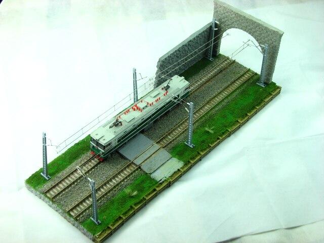 Train Ho échelle modèle Miniature Table de sable scène Train vitrine