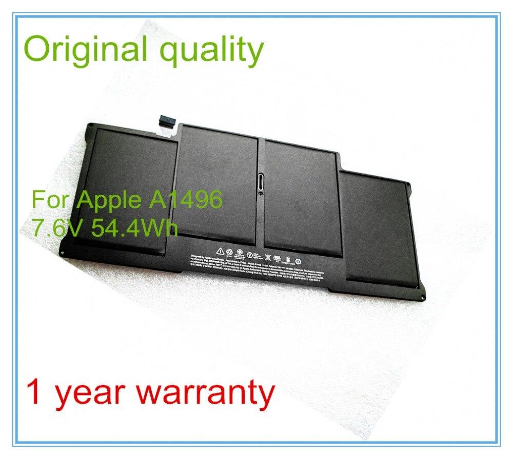 Original Laptop <font><b>Battery</b></font> A1496 For 13&#8243; <font><b>A1466</b></font> 2013/2014 MD760LL/A MD761CH/A 7.6V 7150mAh