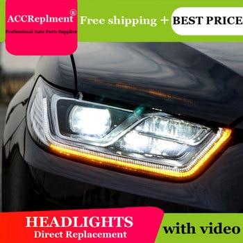 Car Styling for 2015-2018 Ford Taurus LED Headlight Focus Taurus Headlights Lens Double Beam H7 HID Xenon bi xenon lens
