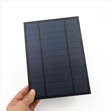 6 в 1000мА 6 Вт 6 Вт солнечная панель Стандартный эпоксидный поликристаллический кремний DIY батарея заряд энергии Модуль Мини Солнечная батарея игрушка
