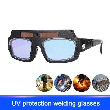 51c9d141ae Alimentado por energía Solar de oscurecimiento Auto Máscara de Soldadura  casco gafas soldador Anti-luz fuerte arco gafas LCC77