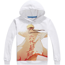 Naruto White Hoodie Pullover in Various Styles