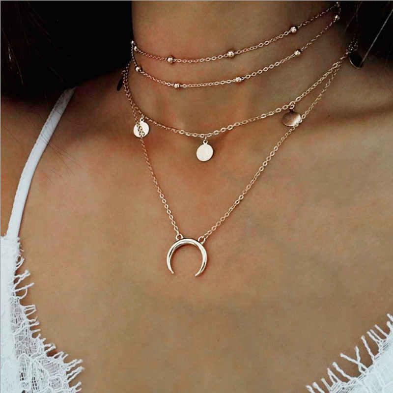 Czeski księżyc gwiazda kryształ serce Choker naszyjnik dla kobiet naszyjnik wisiorek na szyję naszyjnik Choker biżuteria prezent 2019 nowy