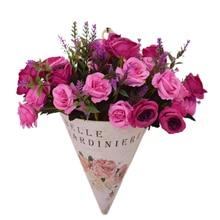 Χειροποίητα τεχνητά λουλούδια τοίχων τεχνητά λουλούδια ζέρμπερες τριαντάφυλλο για το σπίτι γραφείο διακοσμήσεις κήπων γάμου λευκό μωβ μπλε