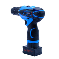 Electric Drill 25V Two Speed Cordless Drill Electric Screwdriver Power Tool 2pcs Rechargeable Lithium Battery