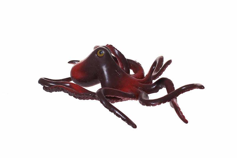 Figura de ação aleatória Simulação polvo 11 cm presente Decorativo collectible dos desenhos animados brinquedos de pelúcia bonecas para crianças Modelo Anime