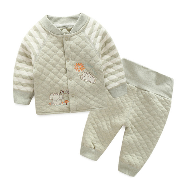 2017 new orangemom Organic cotton baby sets  100% safe for newborn baby clothes , top + bottom 2 pc/set sspring baby boy clothes