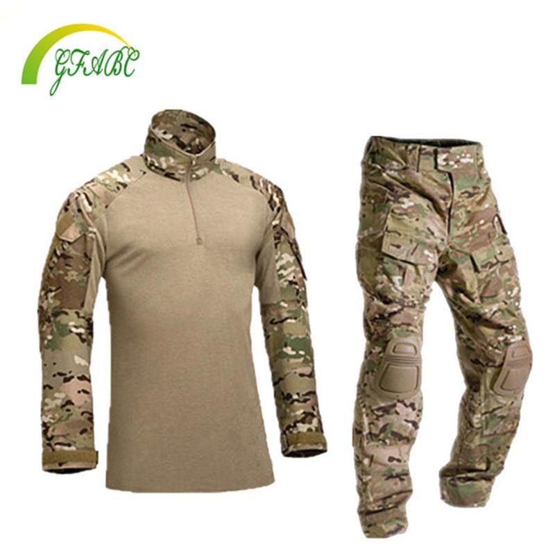 Prix pour Tactique militaire uniforme vêtements armée de la militaire uniforme de combat tactique pantalon avec genouillères camouflage chasse vêtements