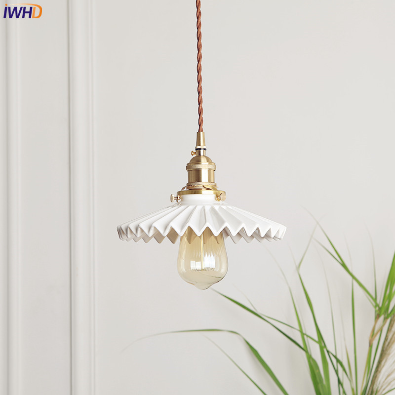 IWHD Japanese Nordic Copper Pendant Light Fixtures Dinning Living Room Vintage ceramics Shade Hanging Lights Home LightingIWHD Japanese Nordic Copper Pendant Light Fixtures Dinning Living Room Vintage ceramics Shade Hanging Lights Home Lighting