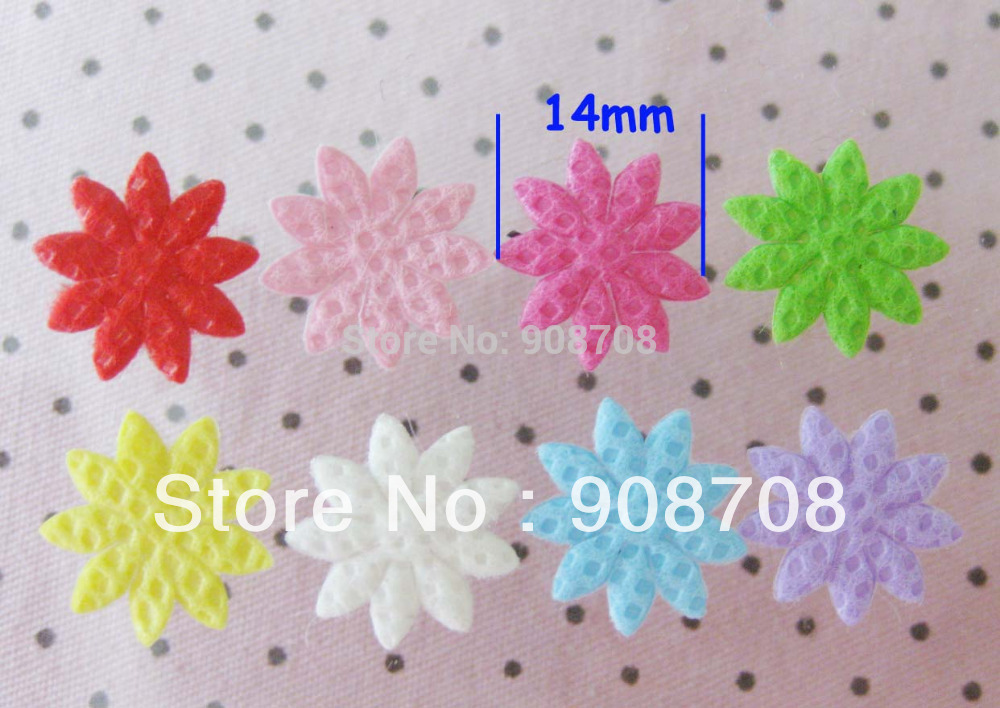 Free Shipping PH008 Newly Padded Felt Applique 300pcs Non-weave flower jewelry accessory