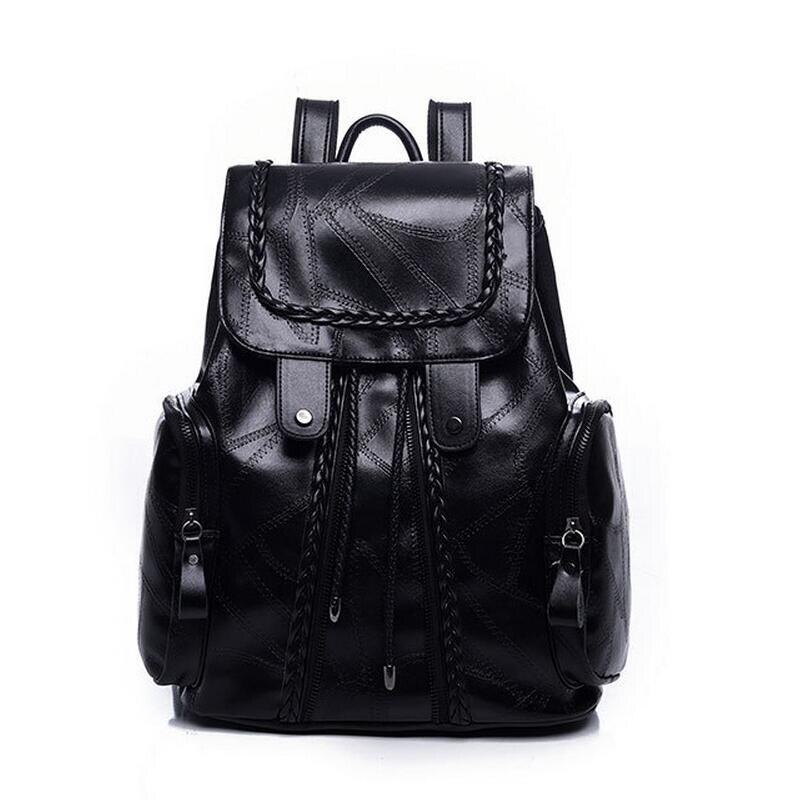 Femmes en cuir sac à dos petit minimaliste noir sacs d'école pour adolescents filles sac à dos féminin 3157 sac a dos femme LJ-0539