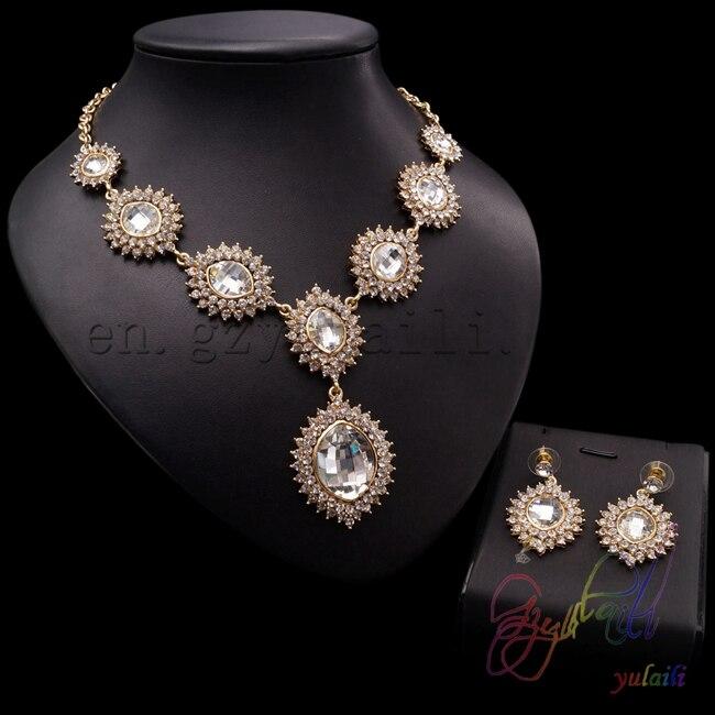 Chine usine directe or long haar conçoit des ensembles de bijoux ensemble de bijoux artificiels populaires pour les jeunes filles