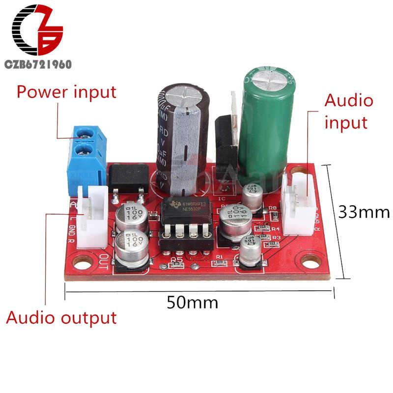 تيار مستمر 9-24 فولت التيار المتناوب 8-16 فولت NE5532 الصوت OP أمبير ميكروفون ديباجة قبل مكبر للصوت مجلس لتقوم بها بنفسك وحدة