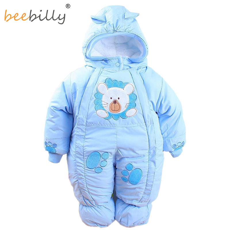 Baby Rompers Autumn & Winter Newborn Infant Baby Clothes Fleece Animal Style Clothing Romper Baby Clothes Cotton-padded Overalls newborn baby rompers autumn winter package feet baby clothes polar fleece infant overalls baby boy girl jumpsuits clothing set
